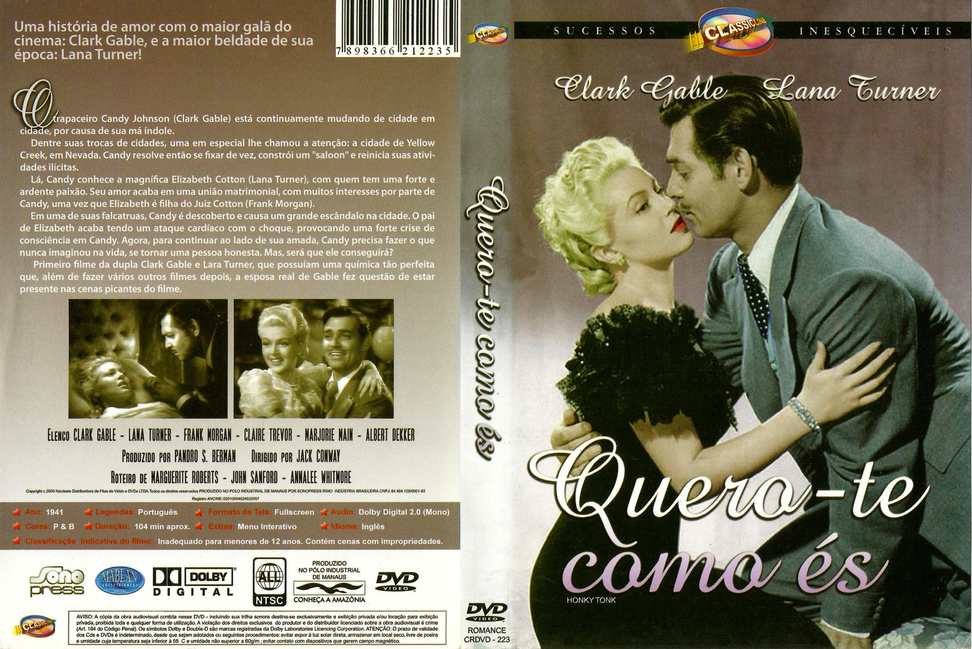 Capa DVD Quero-te Como És