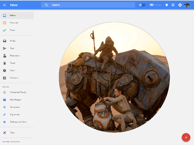Inbox Zero Star wars