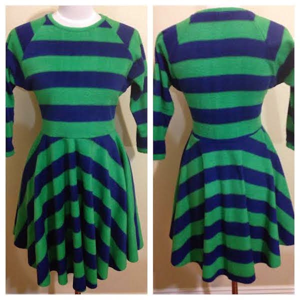 Sewing my striped fleece dress