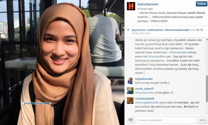 Hairul Azreen Umum Hanis Zalikha Sudah Berhijab