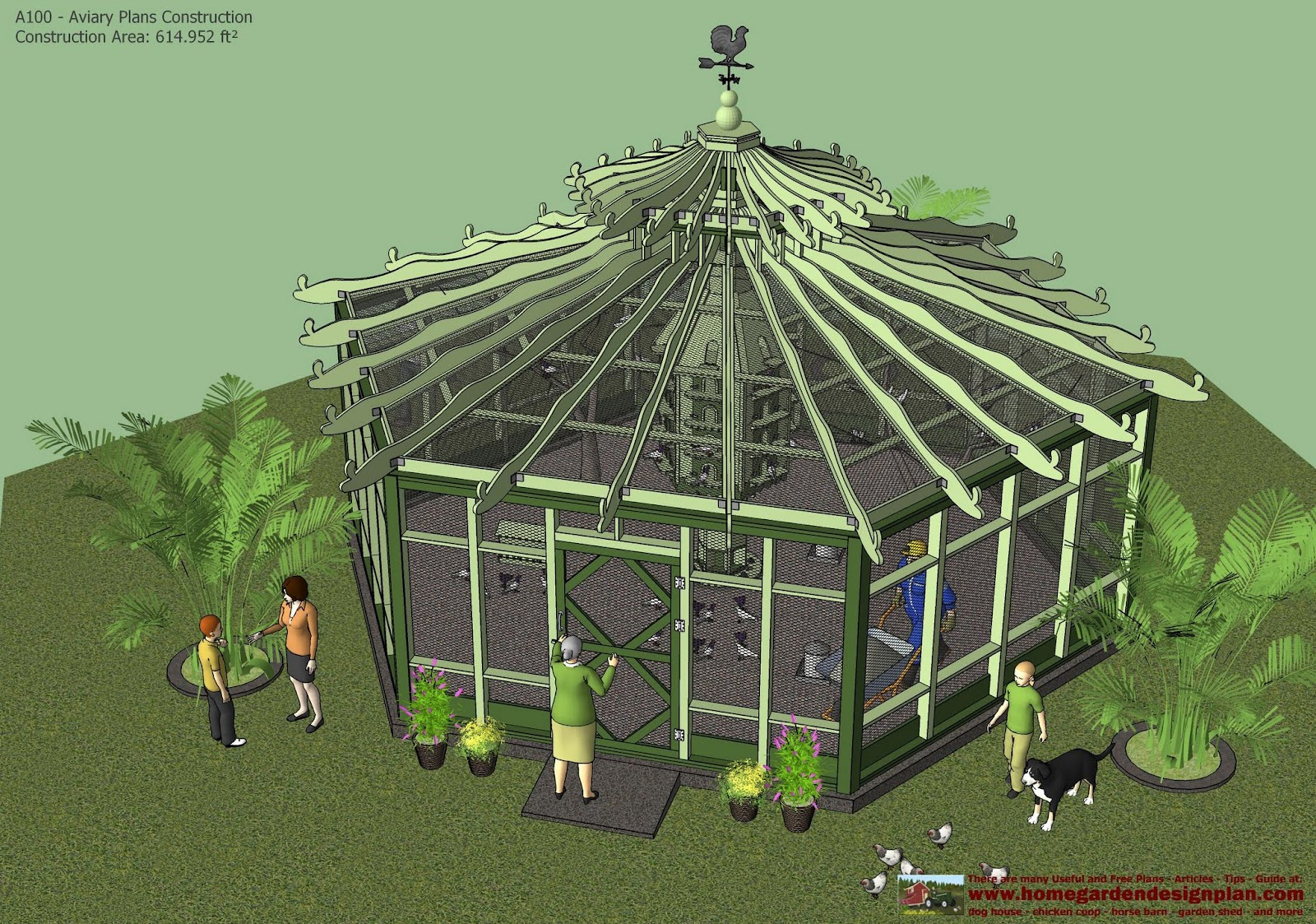 A100   Aviary Plans Construction   Aviary Design   How To Build A Aviary