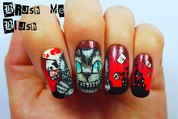 brush blush cheshire cat nails