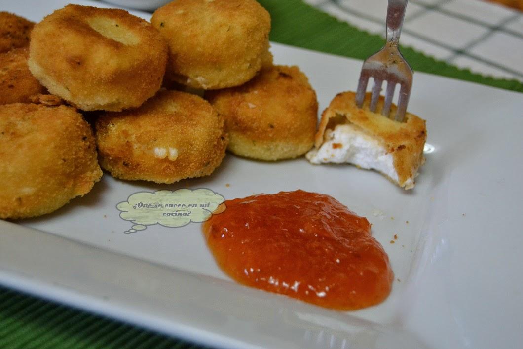 Queso de cabra frito con mermelada de n speros for Cocinar nisperos