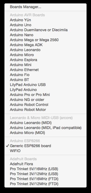 Arduino 에서 esp 과 adafruit 보드들을 추가하자
