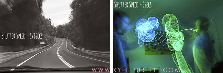 how to change shutter speed