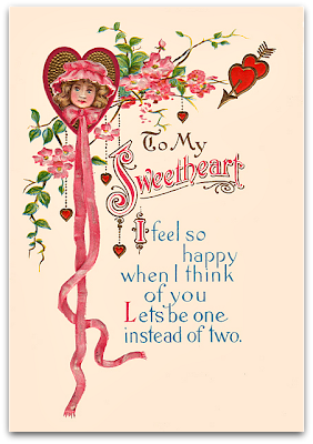 valentines day vintage card for sweetheart