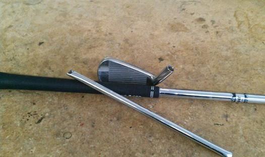 Learn how to repair a broken golf shaft