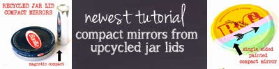 turn a jar lid into a compact mirror - easy peasy