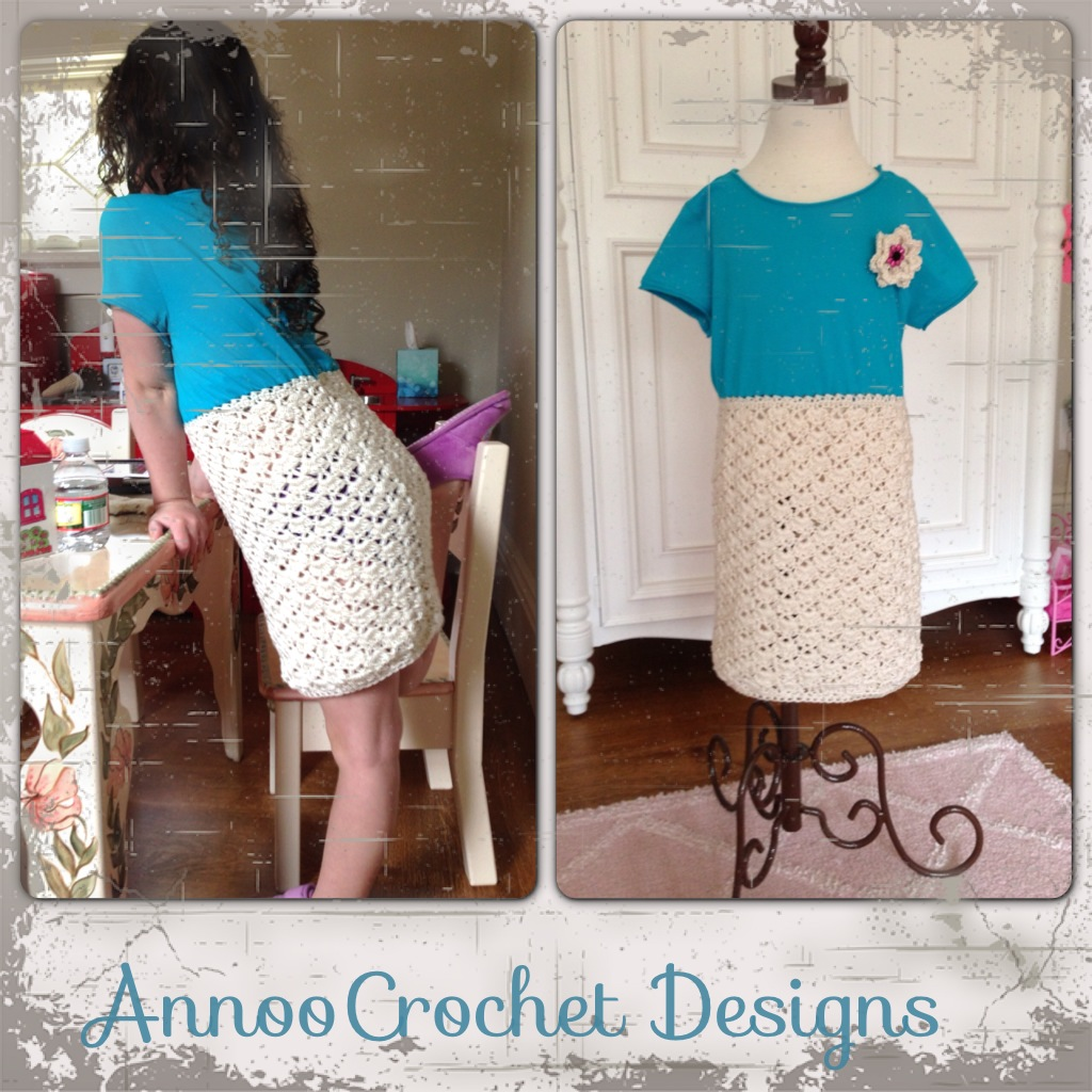 Annoos Crochet World Up Cycled Little Girl T Shirt Dress Free Pattern