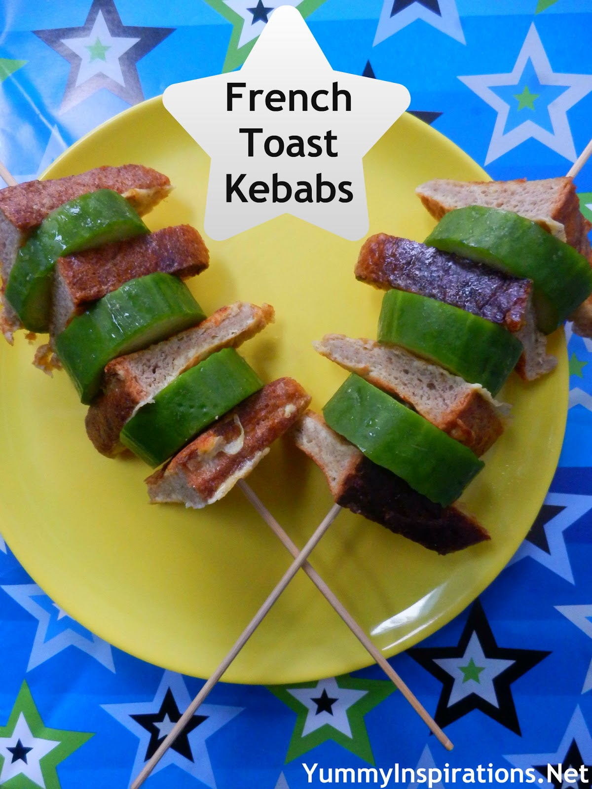 French Toast Kebabs are a fun way to serve french toast to the kids ...