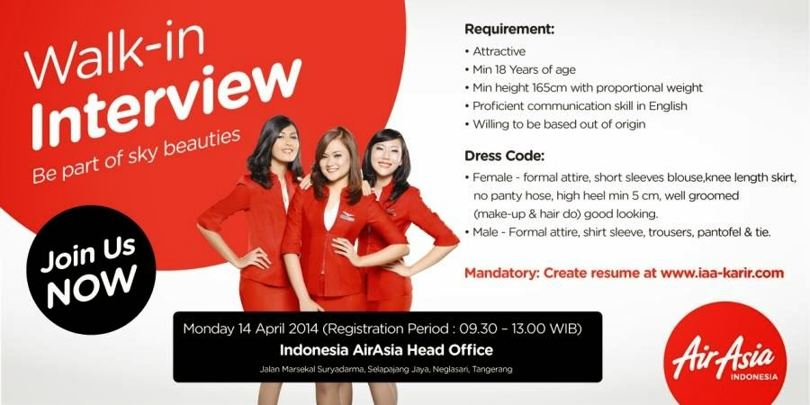 open interview at airasia