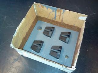 primeira camada do molde de silicone