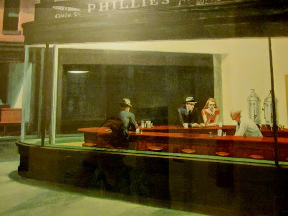 "Larry (Lawrence) Kreger-Edward Hopper, ""Nighthawks"" 1941"