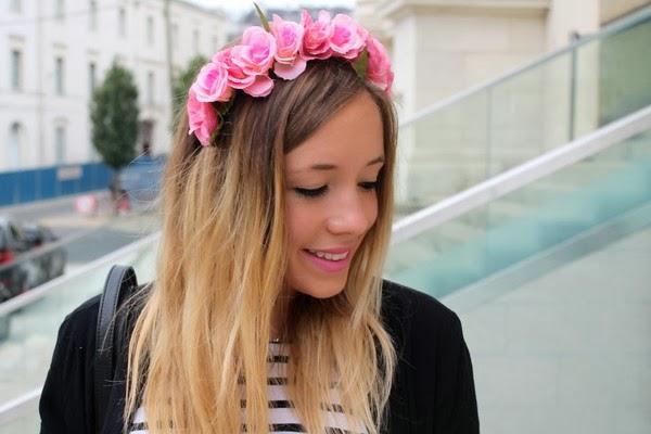 Couronne headband fleurs cheveux