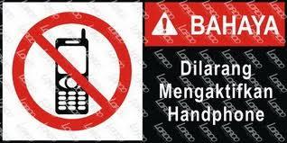 """Bahaya! Dilarang mengaktifkan Handphone """"HP"""" Saat di SPBU"""