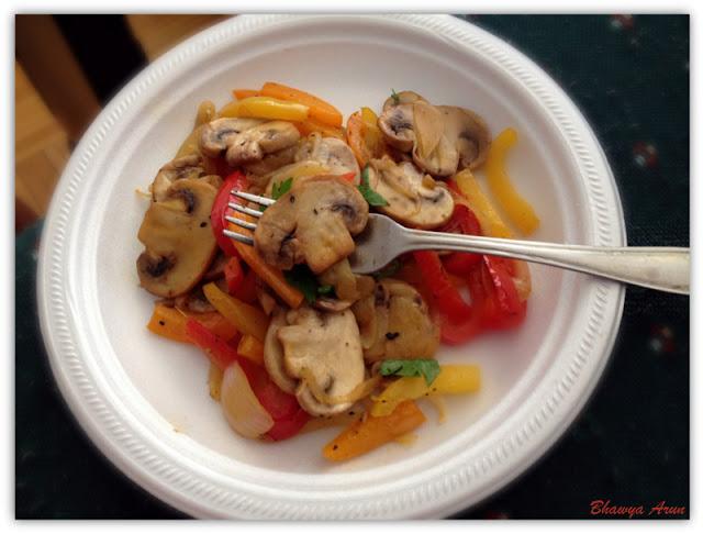 Mushroom & Bell Pepper Fry