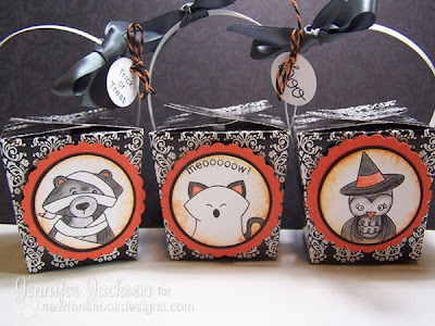 Halloween Treat Boxes using Boo Crew by Newton's Nook Designs