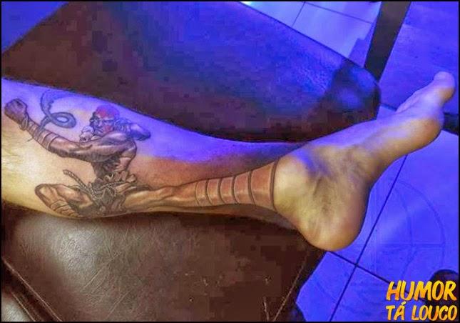 Tatuagem Street Fighter - perna