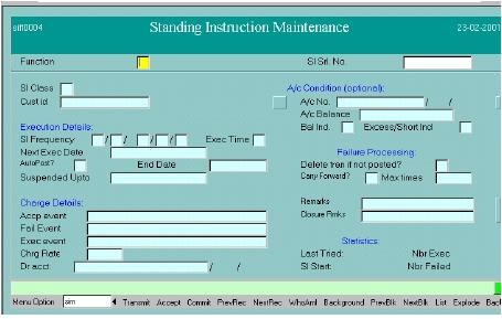 sim standing instruction maintenance automated debit credit in rh finaclecommands blogspot com finacle user guide free download finacle user guide for bank of india