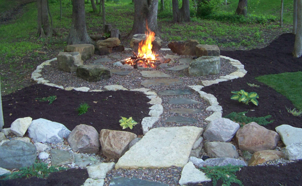 Off grid home sweet home backyard fire pit ideas for Backyard rock fire pit ideas