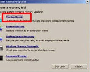 Cara Mengatasi Startup Repair Windows 7
