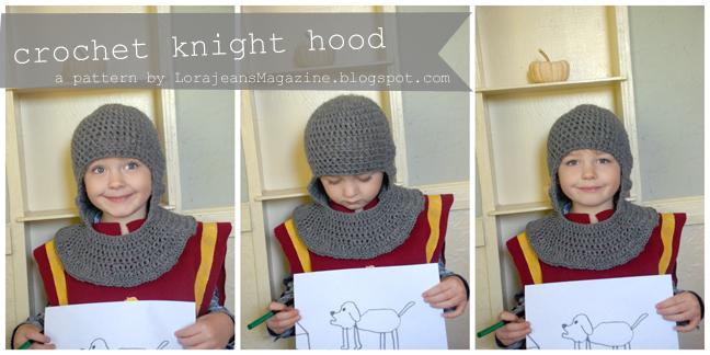 Free Pattern Crochet Knight Hood