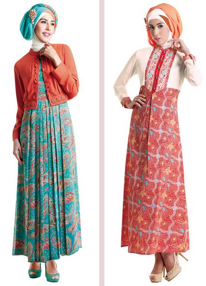 50 gambar model baju batik gamis kombinasi terbaru Baju gamis model india 2015