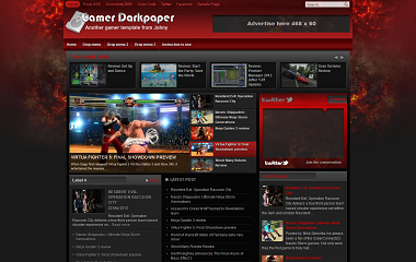Gamers Darkpaper Blogger Template