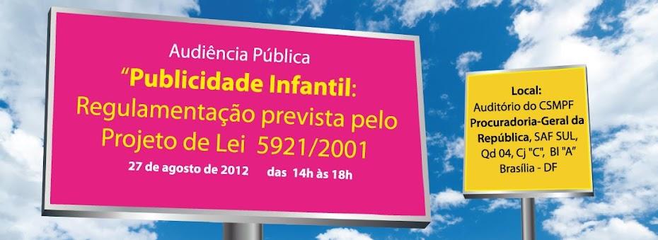 Audiência Pública Publicidade Infantil