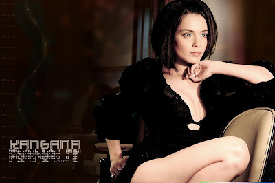 Kangna Ranaut Hot black dress