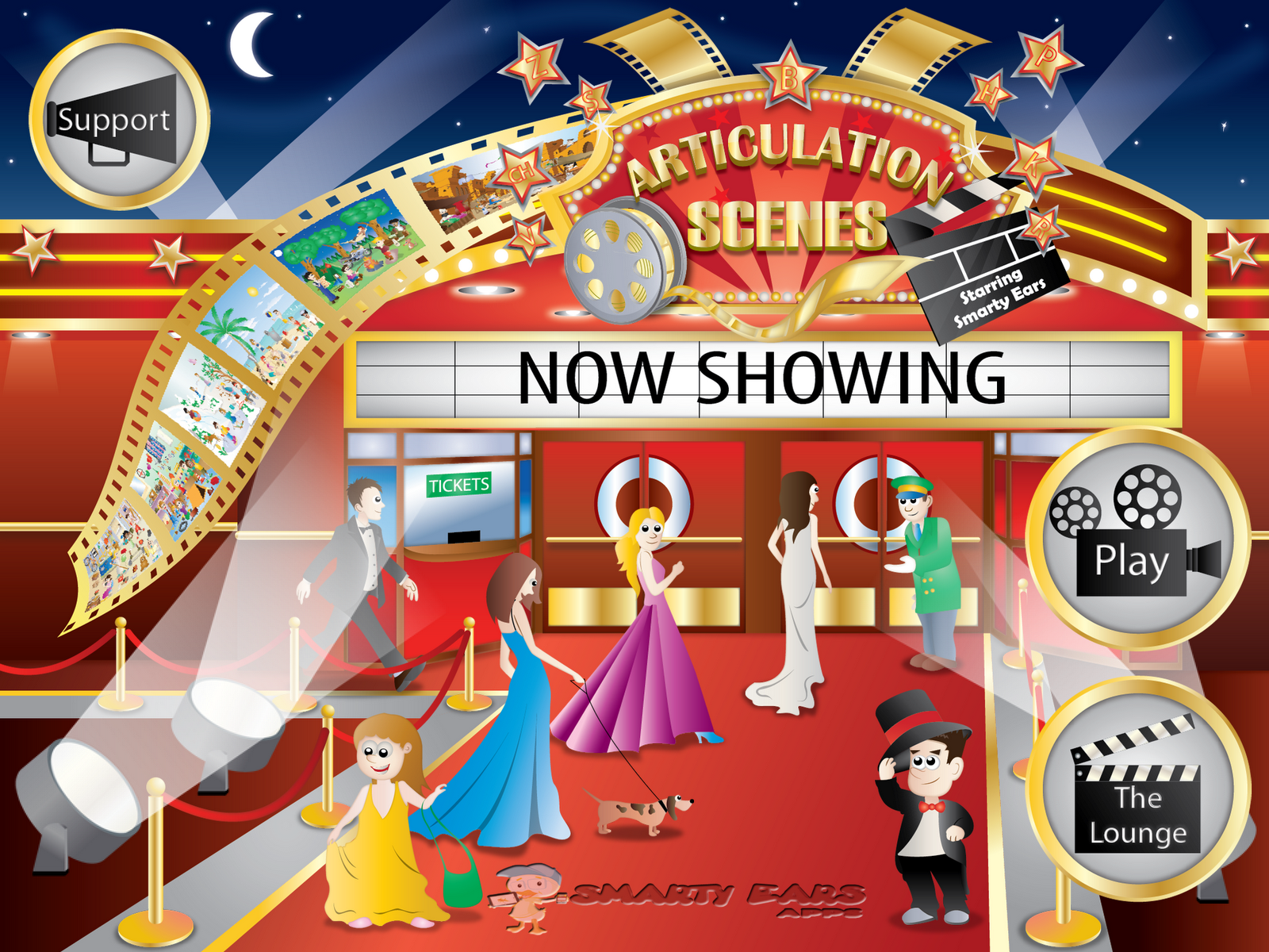 Show scenes page - Articulation Scenes Review