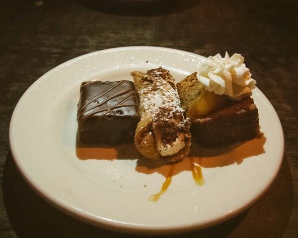 Dessert at Tin Angel Restaurant, Nashville TN