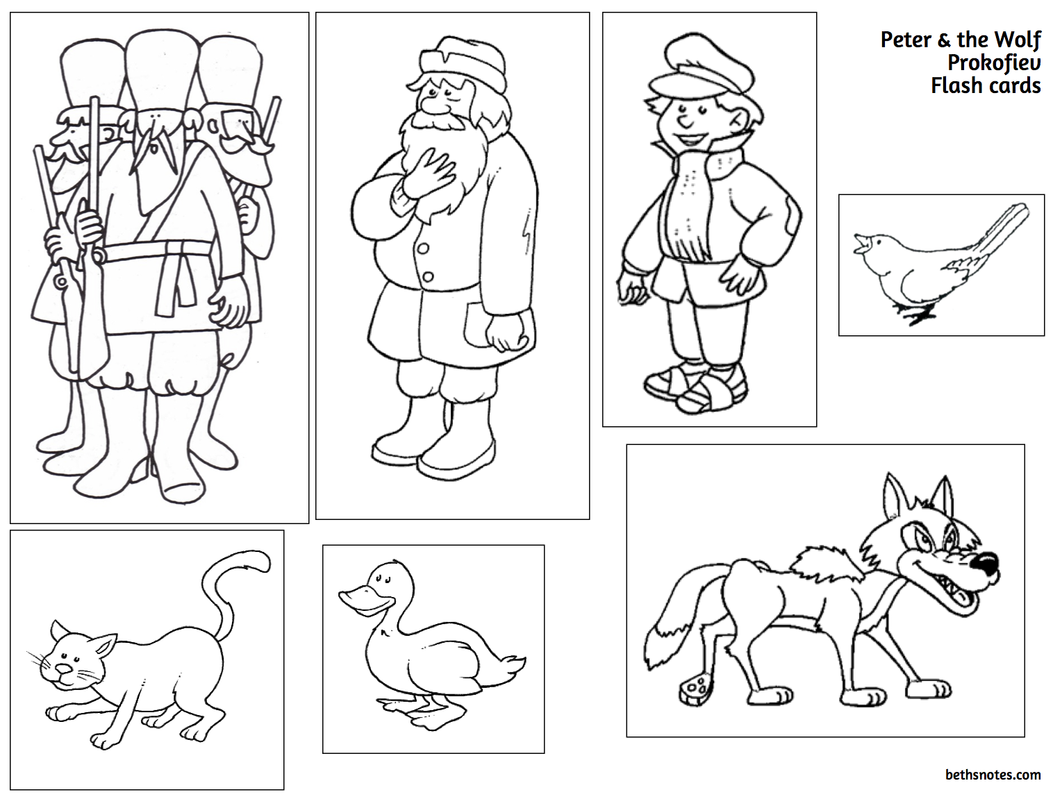 Peter and the Wolf -Set of 7 Worksheets and Writing Prompts | TpT