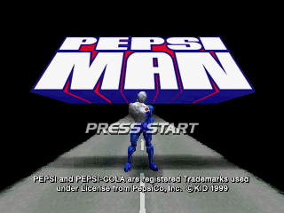Pepsiman title screen playstation