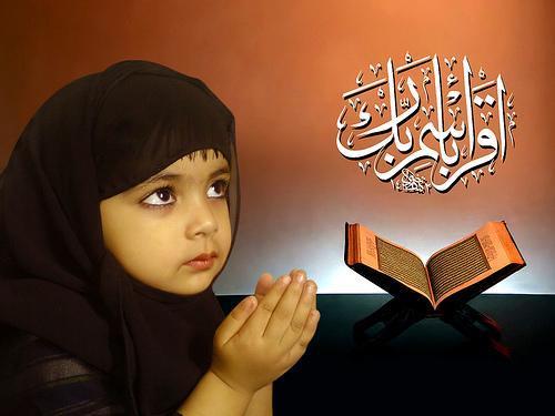 Foto Anak Kecil Lucu Lagi Berdoa