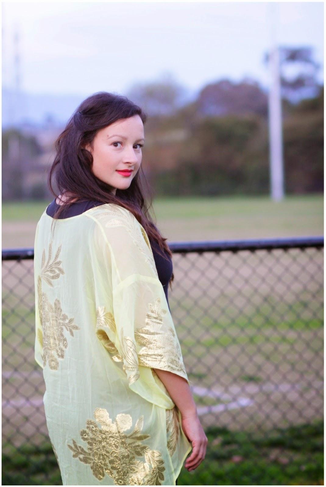 Julia Bobbin Silk Kimono