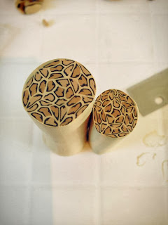 My leopard print cane created from polymer clay, Animal prints handcrafted by Lottie of London