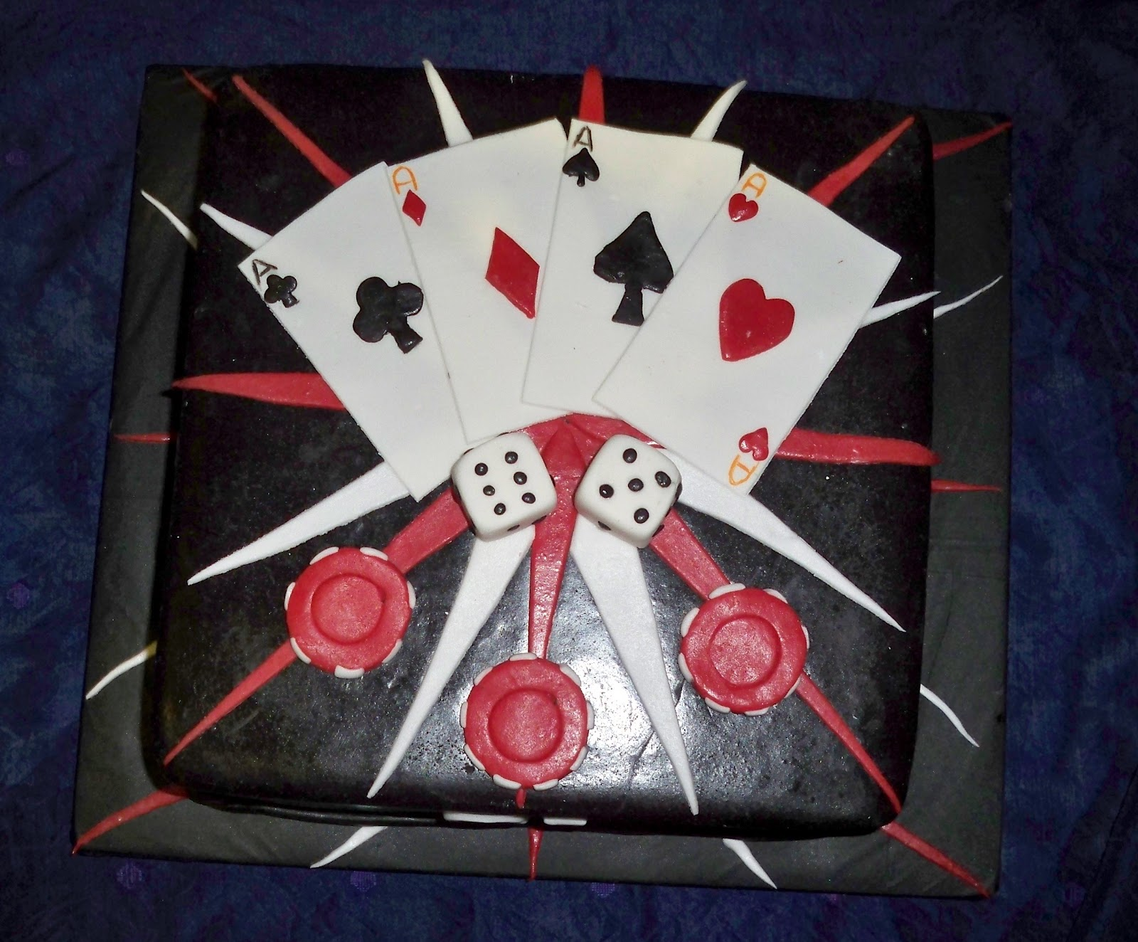 Gaming Casino Birthday Cake