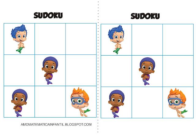 Cartelas Sudoku Bubble Guppies