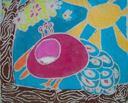 Glue Batik on Canvas