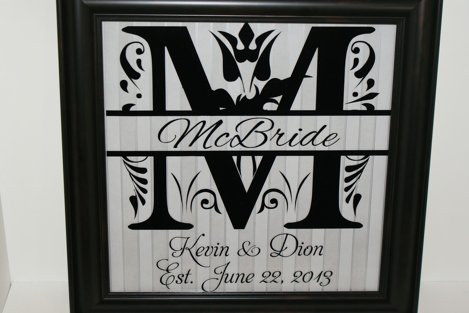 Personally Yours by Kerry: Monogram Split Letter Frames