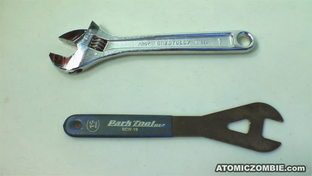 wrenches to disassemble bearing
