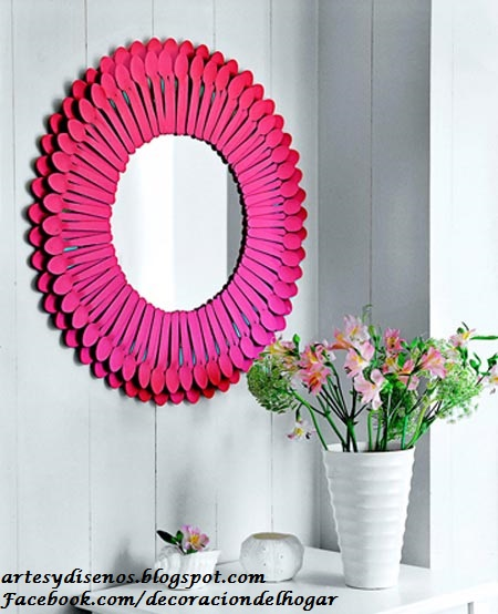 IDEAS PARA DECORAR CON ESPEJOS by artesydisenos.blogspot.com