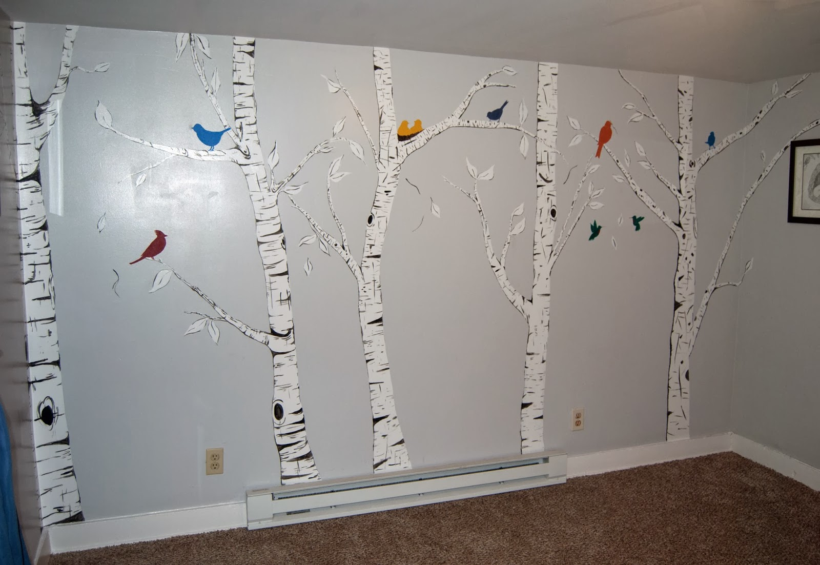Ali la mode soft baked sugar cookies nursery in for Beautiful birch tree wall mural
