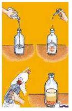 líquido en botella