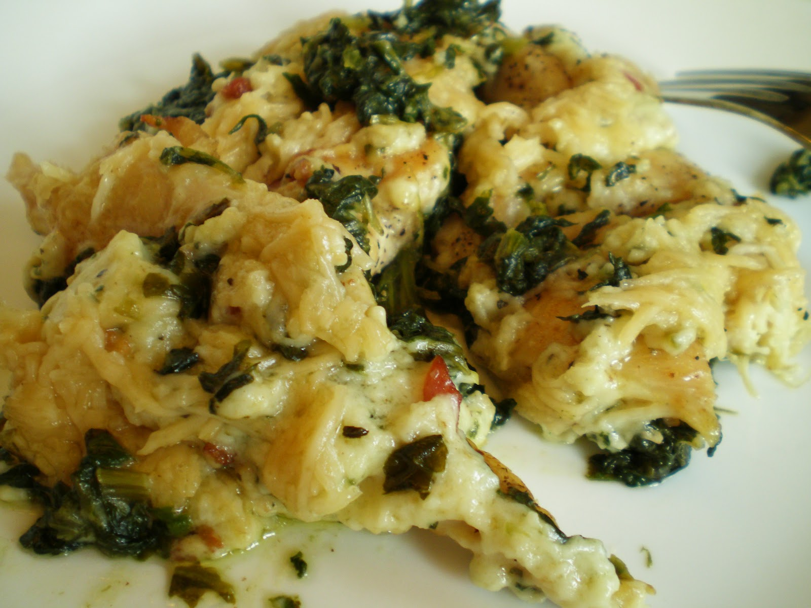 Basil and Rosemary's Kitchen: Chicken Florentine Casserole