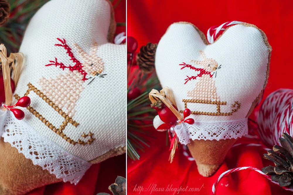 Christiane Dahlbeck Jahreszeiten Herbst & Winter, вышивка кролик, вышивка новогодняя