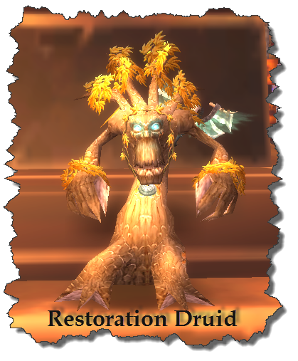 A cutout picture of a Restoration Druid from World of Warcraft