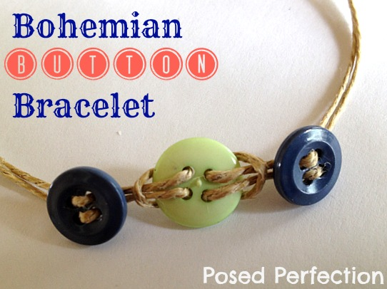 Girls love making bracelets. Why not have them make these Bohemian Button Bracelets at their next tween party?