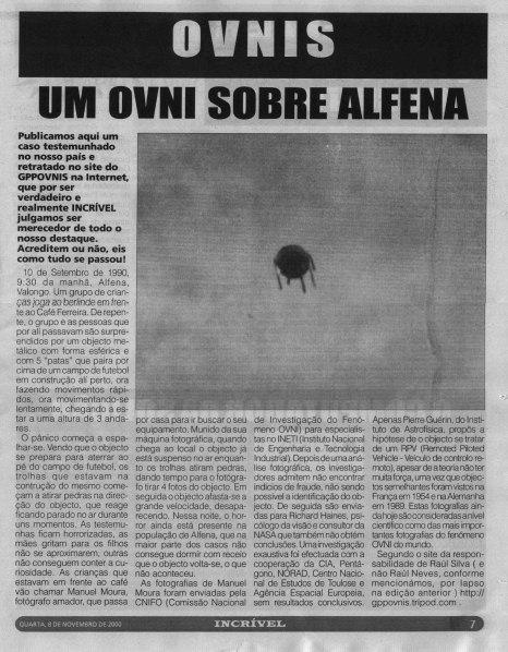 avistamento de ovni em portugal
